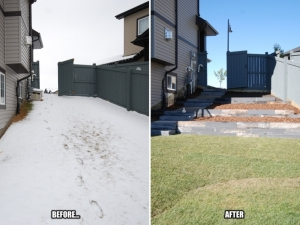 "Incorporating an ""Architectures Segmental Retaining Wall System by barkman"" at our ""Granville"" landscape revitalization project really improved accessibility to the lake behind"