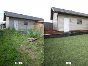"This yard was in ""dire need of revitalization"". What a difference a few days can make!"