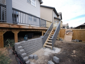 On this project we increased the size of the deck and turned the stairs 90 degrees in order to create more usable and functional... OutdoorSpace
