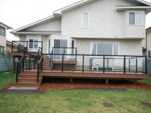 "Another look at the ""Custom Built 3 Tier Composite Deck"" in ""Terwillegar Heights"""