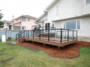 "Another view of our ""Custom Built 3 Tier Composite Deck"" in ""Terwillegar Heights"""