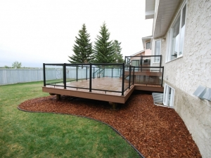 Another look at the Custom Built 3 Tier Composite Deck in Terwillegar Heights
