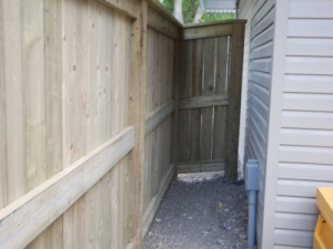 "Pressure Treated Fence with 2x6 mid-rail add's extra strength to the fence and helps to prevent the fence boards from warping. This maintains the ""integrity"" of the boards and maximizes ""privacy"""