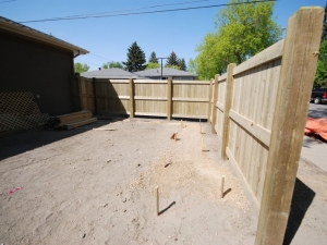 "Another look at the Pressure Treated Fence in ""Allendale"""