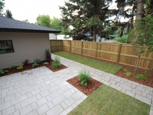 Pressure Treated Fence c/w mid-rail and cap
