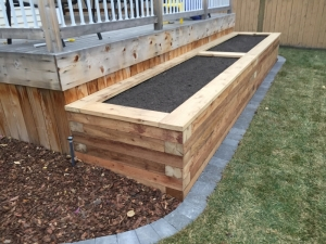 "Utilizing Cedar is a great way to incorporate an ""aesthetically"" pleasing and ""functional"" Planter for Vegetables or Flowers"