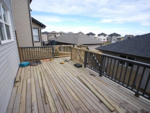 """View of a deck extension at our """"Walker Lakes"""" landscape revitalization project"""