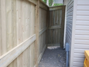 """Pressure Treated Fence with 2x6 mid-rail add's extra strength to the fence and helps to prevent the fence boards from warping. This maintains the """"integrity"""" of the boards and maximizes """"privacy"""""""