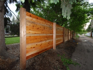 """We replaced the old (spruce) fence with a custom built (Cedar) Fence at this """"Crestwood"""" project"""