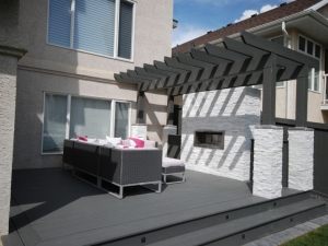 """Another look at the """"Composite Deck complete with """"Pergola"""" and """"Gas Fireplace"""""""