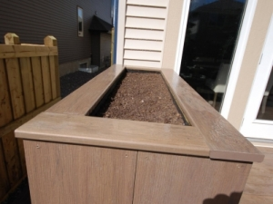 """Another look at this """"Custom Built Composite Planter"""" in Ambleside"""