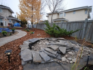 """Another view of the Pond at our """"Ogilvie Ridge"""" landscape revitalization project"""