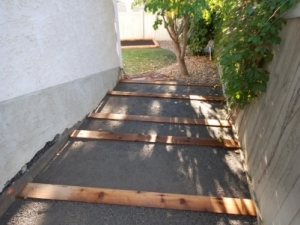"""Another look at the """"Cedar & 10mm Limestone"""" Steps"""