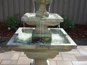 """There is nothing more """"soothing"""" and """"tranquil"""" than the sound of """"Running Water"""". The addition of a """"Pre-Cast Water Fountain"""" really helped to bring this back yard to life"""