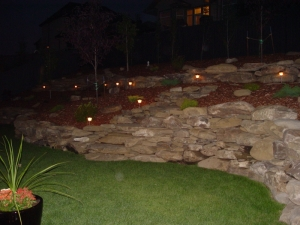 """Another look at the """"Low Voltage Lighting"""" at our """"Citadel at Magrath"""" project"""