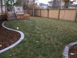 """A back yard view of our """"Brookview"""" landscape revitalization project. Be sure to check out the """"Before and After"""" photos of this project!"""