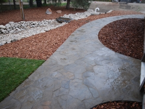 """Another look at the extensive """"Mega-Libre"""" sidewalk we constructed at our """"Hastings Lake"""" project"""