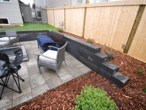 """The """"Architextures Segmental Retaining Wall by barkman"""" turned our real NICE!"""