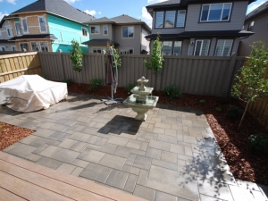 """Techo-Bloc Blu 60mm Smooth (Shale Grey) Patio Slab created a """"beautiful"""" and """"tranquil"""" OutdoorSpace for this """"Ambleside"""" project"""