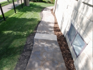 "Another look at the ""Mega-Libre Slab"" sidewalk by Belgard with ""Pre-Cast Dimensional Steps"" by barkman"