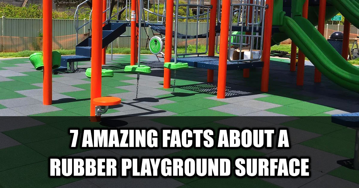 Rubber Playground Surface in Edmonton