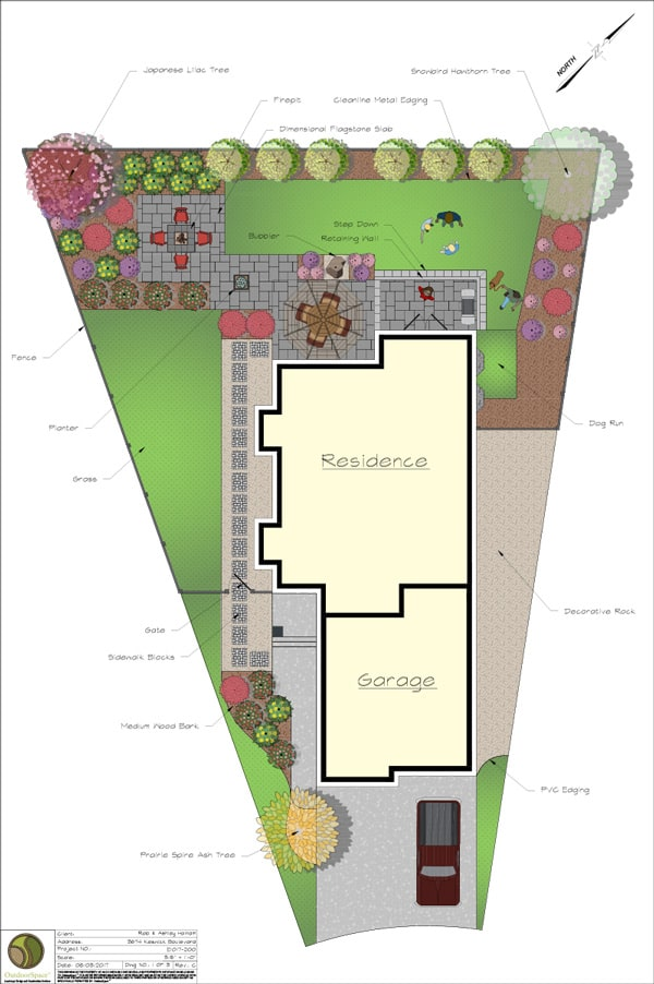 Landscaping design plan