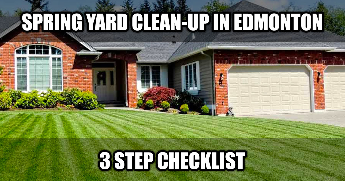 spring yard clean-up edmonton